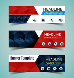 horizontal banner set vector image vector image