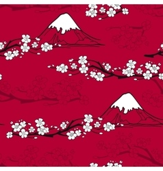 Japanese Flower Pattern vector image