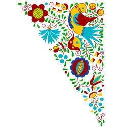 Moravian folk bird ornament vector image vector image