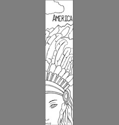 Native american woman in tribal feather headset vector