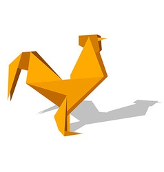 Vibrant colors Origami rooster vector image
