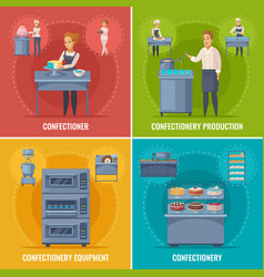 confectionery production cartoon concept vector image