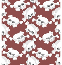 Isometric Skull seamless pattern Head skeletal vector image