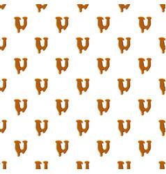 Letter u from caramel pattern vector