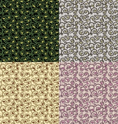 set of textures with an ornate flower vector image vector image