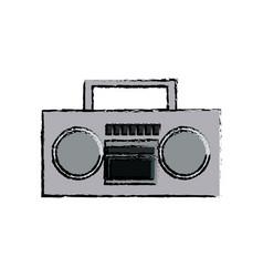 Stereo radio sound music device retro vector