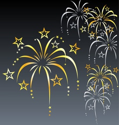 Stylized Fireworks vector image vector image