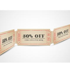 vintage sale coupons vector image