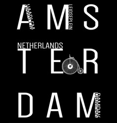 amsterdam typography t shirt design vector image vector image