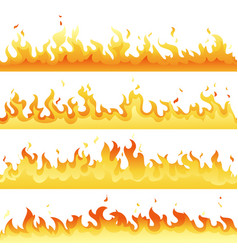 fire flame backdrop background set horizontal vector image vector image