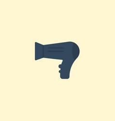 flat icon hairdryer element vector image