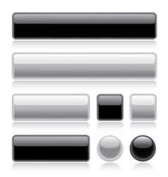 glossy web buttons vector image vector image