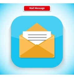 Mail Message App Icon Flat Style Design vector image vector image