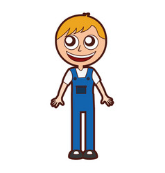 mechanic worker with overalls vector image vector image