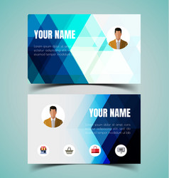 name card template2 vector image vector image