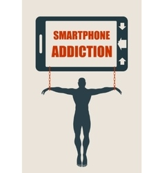 Smartphone addiction bad lifestyle concept vector image vector image