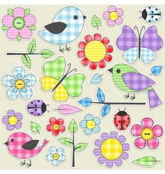 textile stickers vector image