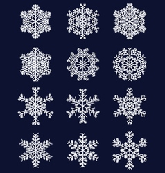 white snowflakes 2 vector image vector image