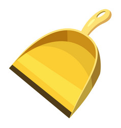yellow scoop for cleaning icon cartoon style vector image
