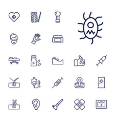 22 treatment icons vector