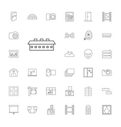 33 frame icons vector