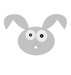 a cute rabbit head vector image