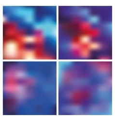 Abstract blurred backgroundsRedblue vector image