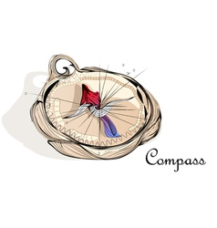 Abstract compass vector
