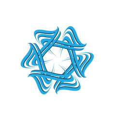 abstract star business company logo on white vector image