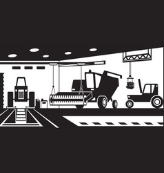 agricultural machinery service and maintenance vector image
