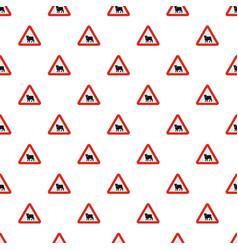 animal pattern seamless vector image
