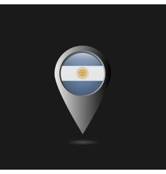Argentina flag pointer vector