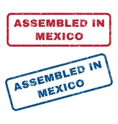 Assembled In Mexico Rubber Stamps vector