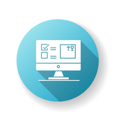 Automated tracking system blue flat design long vector
