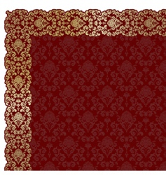 background with gold flowers vector image