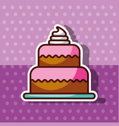 bakery and dessert products concept vector image