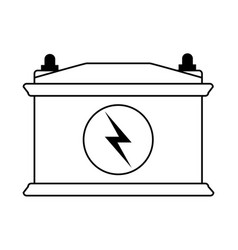 battery flat draw vector image
