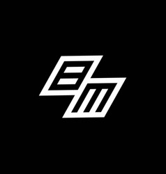 Bm logo monogram with up to down style negative vector