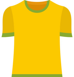 Brazil soccer shirt icon flat isolated vector