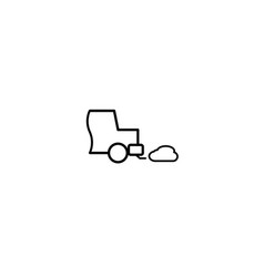 car exhaust icon vector image