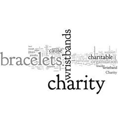 Charity bracelets vector