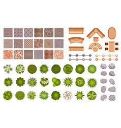 city park landscape design map elements top view vector image