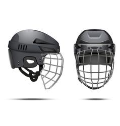 Classic Goalkeeper Hockey Helmet vector image