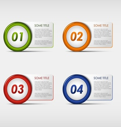 Colorful set progress round icons vector image
