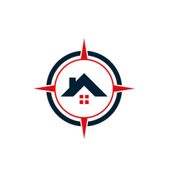 compass home estate residence house icon logo vector image