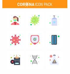 Covid19-19 protection coronavirus pendamic 9 flat vector
