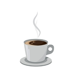 Cup of coffee isolated on a white background vector image