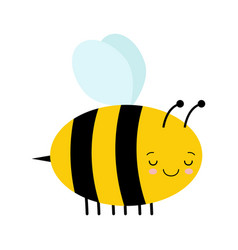 cute cartoon sleeping bee isolated on white vector image