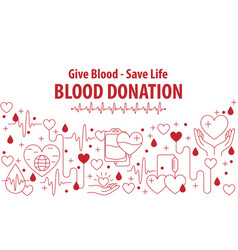 donation blood banner vector image