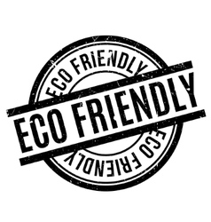 Eco Friendly rubber stamp vector